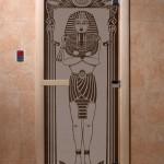 """Дверь для саун """"Египет"""" черный жемчуг матовая"""