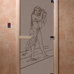 """Дверь для саун """"Дженифер"""" черный жемчуг"""