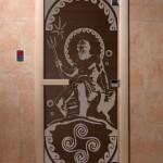 """Дверь для саун """"Посейдон"""" черный жемчуг"""