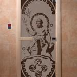"""Дверь для саун """"Посейдон"""" черный жемчуг матовая"""