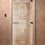 """Дверь для саун """"Египет"""" прозрачная"""