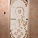 """Дверь для саун """"Посейдон"""" сатин"""