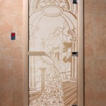 """Дверь для саун """"Жар-птица"""" сатин"""