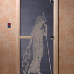 """Дверь для саун """"Рим"""" синий жемчуг"""