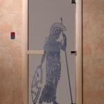 """Дверь для саун """"Рим"""" синий жемчуг матовая"""