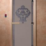 """Дверь для саун """"Византия"""" синий жемчуг матовая"""