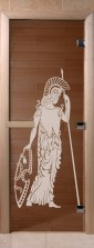 """Дверь для саун """"Рим"""" бронза"""