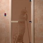 """Дверь для саун """"Рим"""" бронза матовая"""