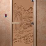 """Дверь для саун """"Китай"""" бронза матовая"""