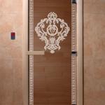 """Дверь для саун """"Византия"""" бронза"""