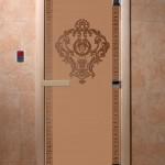"""Дверь для саун """"Византия"""" бронза матовая"""