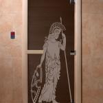 """Дверь для саун """"Рим"""" черный жемчуг"""