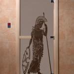 """Дверь для саун """"Рим"""" черный жемчуг матовая"""