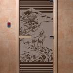"""Дверь для саун """"Япония"""" черный жемчуг матовая"""