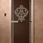"""Дверь для саун """"Византия"""" черный жемчуг"""