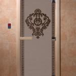 """Дверь для саун """"Византия"""" черный жемчуг матова"""