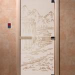 """Дверь для саун """"Китай"""" сатин"""