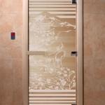 """Дверь для саун """"Япония"""" прозрачная"""