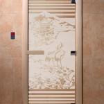 """Дверь для саун """"Япония"""" сатин"""