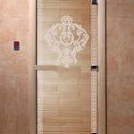 """Дверь для саун """"Византия"""" прозрачная"""