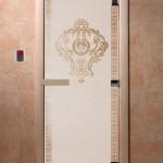 """Дверь для саун """"Византия"""" сатин"""