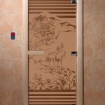 """Дверь для саун """"Япония"""" бронза матовая"""