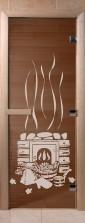 """Дверь для саун """"Банный день"""" спецпредложение бронза"""
