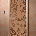 """Дверь для саун """"Венеция"""" бронза матовая"""