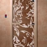 """Дверь для саун """"Венеция"""" бронза"""