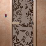 """Дверь для саун """"Венеция"""" черный жемчуг матовая"""
