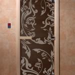 """Дверь для саун """"Венеция"""" жемчуг матовая"""