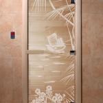 """Дверь для саун """"Голубая лагуна"""" прозрачное"""