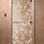 """Дверь для саун """"Венеция"""" прозрачная"""
